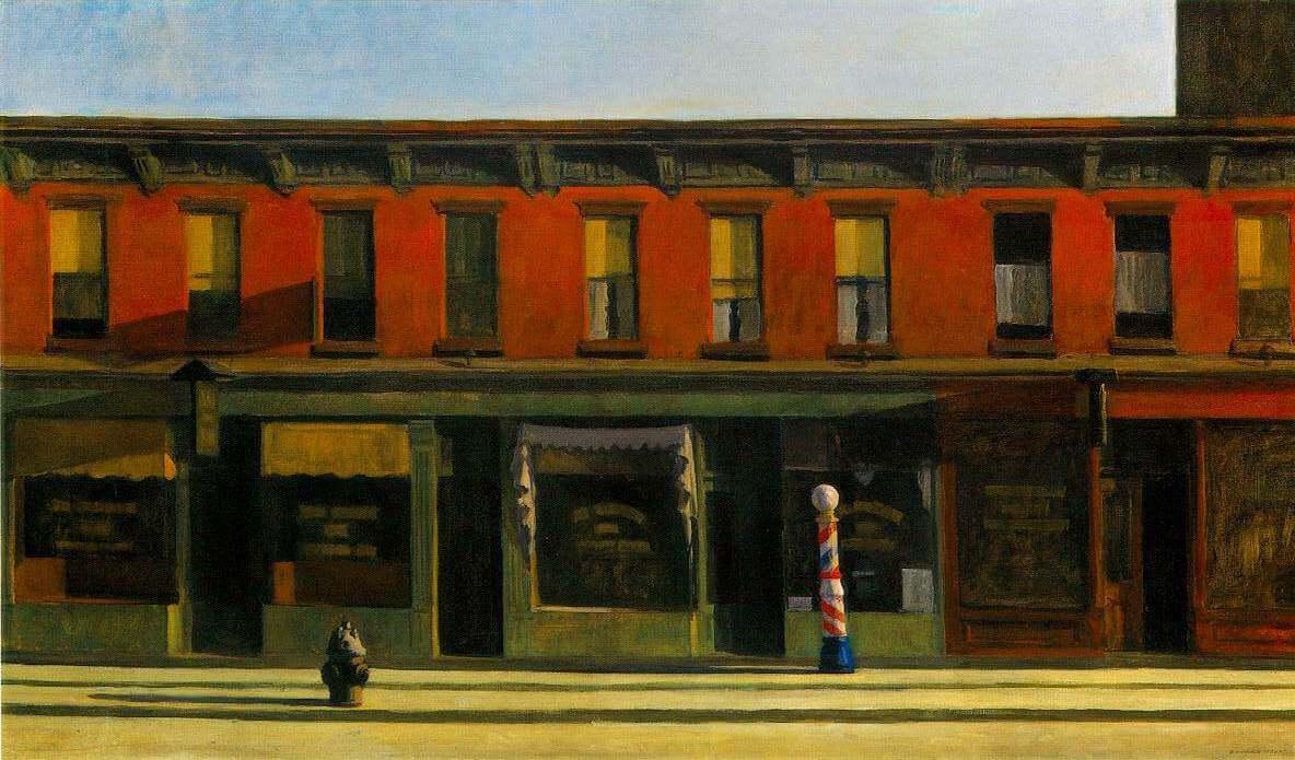 Early sunday morning. Edward Hopper