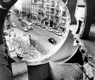 Gordon Matta Clark. Building cuts.